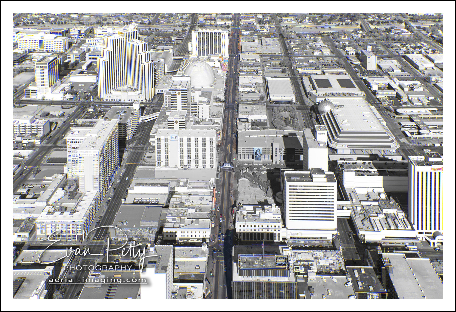 Reno Arch Aerial Downtown